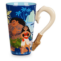 Disney Moana Fishhook Ceramic Coffee 14oz Mug New