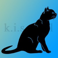 Cat Bombay Feline wall art vinyl decal sticker