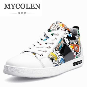 MYCOLEN 2018 New Luxury Designer Shoes Men Casual Shoes Fashion Men Shoes Top Quality Lightweight Sneakers Scarpe Uomo Di Marca