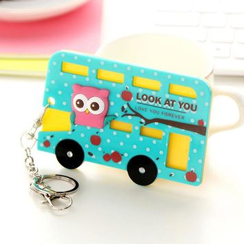 Kawaii Cartoon Animals Silicone Card Cover Bus Bank Id Card Case Holder Badge Name Holders Office Supplies