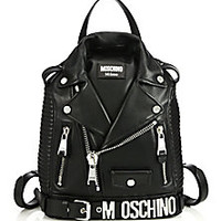Moschino - Moto Jacket Leather Backpack - Saks Fifth Avenue Mobile