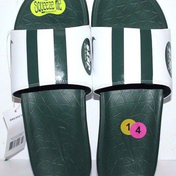 NIKE BENASSI SOLARSOFT NEW YORK JETS NFL  SANDALS SLIPPERS SLIDES GREEN