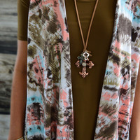 Spanish Cross Trio Necklace