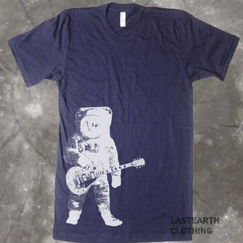 Astronaut and Guitar T Shirt - Guitar Tshirt - Music Shirt Gift for Guitar Player - Space Shirt Astronaut Tee Gift Idea Present For Dad Mom