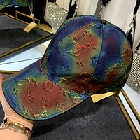 LV 2020 new canvas rainbow logo men and women baseball cap