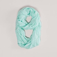 AEO Diamond Embroidered Loop Scarf | American Eagle Outfitters