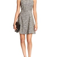 Banana Republic Womens Factory Textured Fit And Flare Dress