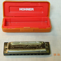 HOHNER SPECIAL 20 MARINE Band Harmonica German 560/20 Vintage Musical Collectible with Case Beginner Garage Band