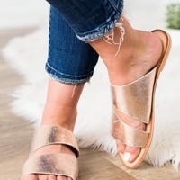 Naughty Monkey Spirited Sandal-Rose Gold