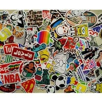 50 pcs Mixed funny hit stickers for kids Home decor jdm on laptop sticker decal fridge skateboard doodle stickers toy stickers