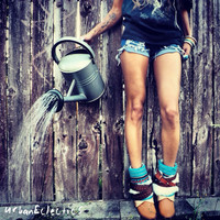 Urban Eclectics — Feathered Aztec Tribal Boots