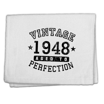 "70th Birthday Vintage Birth Year 1948 11""x18"" Dish Fingertip Towel by TooLoud"