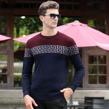 Free Shipping Winter Warm Men 100% Pure Cashmere Christmas Sweater Men Real Merino Wool Sweater Fashion O-Neck Pullover Men 6345
