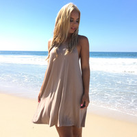 Effortless Jersey Dress In Mocha