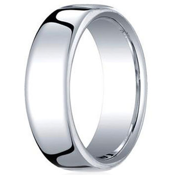 Benchmark Classic 7.5MM European Comfort Fit Mens Wedding Band