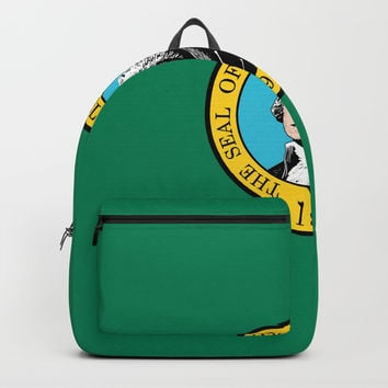 flag Washington,america,usa,Alki,Evergreen State, Washingtonian,Olympia,seattle,Spokane Backpacks by oldking