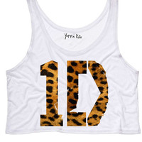 Leopard 1D Crop Tank Top