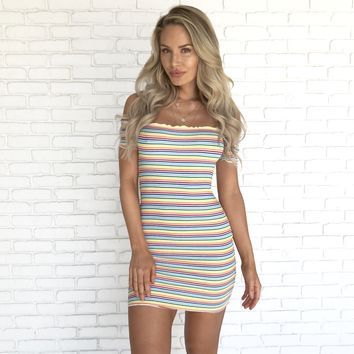 Some Kind Of Colorful Bodycon Dress