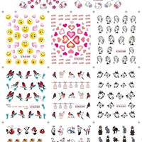 HOT SALE BLE1984-1994 Larger Set 11Sheets/Lot  Hello kitty nail sticker sheet for water transfer nail sticker for sticker decal
