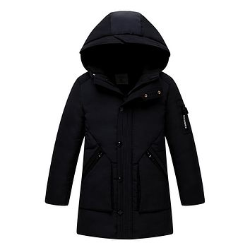 New Children Down Jackets coats for Big boy Long model duck Down Coat Kids thick feather jacket Outerwear