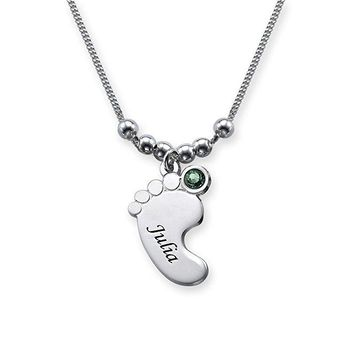Lovely  Baby Foot Pendant Necklace High Quality Alloy Necklaces Jewelry Best Gift Can Custom Made Any Name YP2977