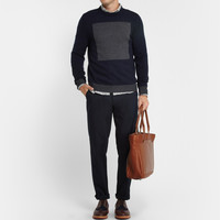 Rag & bone - Contrast-Panel Wool Sweater | MR PORTER