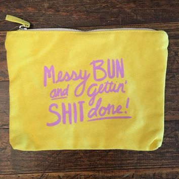 Messy Bun Cosmetic Bag