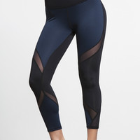 Michi Hydra Crop Legging- Sapphire Navy | Women's Active Wear Leggings