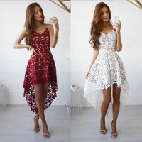Stylish Summer Hot Sale Lace Prom Dress One Piece Dress [9893986957]