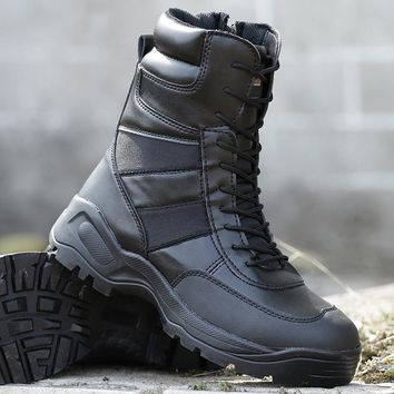 Black Tactical Boots Military Hiking Shoes Men Sapato Masculina Army Hunting Mountain Boots Outdoor Tatico Combat  Militar Shoes