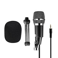 Microphone Condenser 3.5mm Fifine Plug in Microphones For Computer Recording ,Cardioid Microphone For Skype,YouTube,Google Voice Search, Games-K667