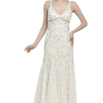 Sue Wong N1118 Gorgeous Antique Embroidered Ivory Wedding Gown