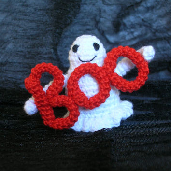 Miniature ghost, cute ghost, amigurumi ghost, crochet ghost, mini ghost, tiny ghost, miniature toy, collectible toy, mini toy,cute amigurumi