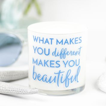 What Makes You Different Quote Jar in Fairy's Dust Scent