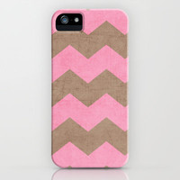 chevron - pink and brown iPhone & iPod Case by her art