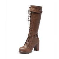 Women's boots with the new high-heeled waterproof high-heeled boots with high fashion boots SUB2488