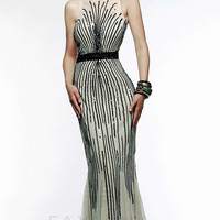 Long Sequin Embellished Formal Gown by Faviana