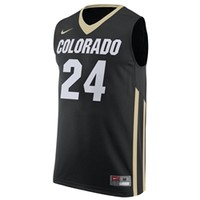 CU Book Store - Colorado Basketball #24 Nike Replica Jersey - Black
