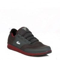 LACOSTE MENS DARK GREY L.IGHT TRF5 TRAINERS
