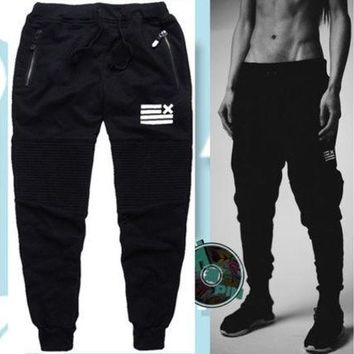 ONETOW Men Fashion Joggers Sport Harem Pants Mens Sport Sweatpants Jogging Pants [9221787588]