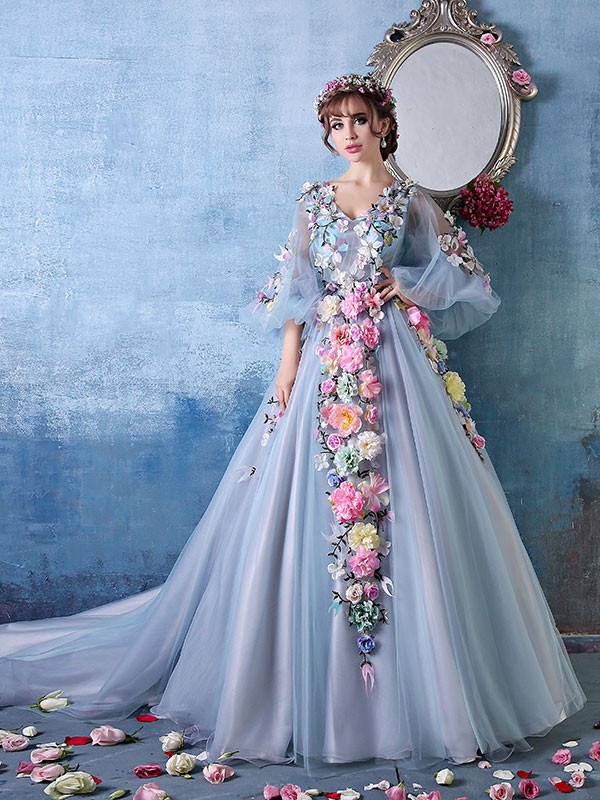 2be1c6ac81c41 Long Sleeves Ball Gown Evening Dress with from JoJo Dress
