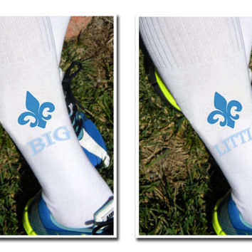 Sorority Big and Little Custom Printed Knee High Socks - Kappa Kappa Gamma and More Sororities