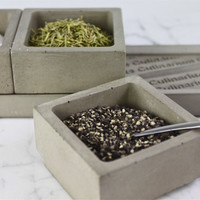 Concrete 3 Spice Caddy