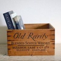 Vintage Wooden Whisky Crate Old Rarity by RobertaGrove on Etsy