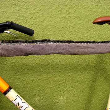 Bicycle Cozy Grey Corduroy Sewn With Upcycled by GretaHoneycutt