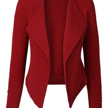 makeitmint Women's Basic Solid Casual Blazer Collection