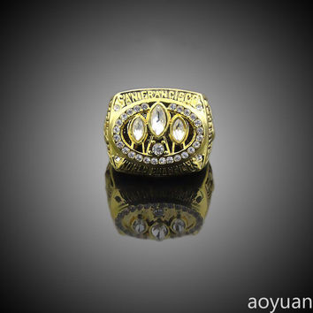 aoyuan Championship rings,Super Bowl 1988 San Francisco 49ers in the world championship ring,sp