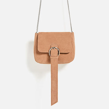 MINI SPLIT SUEDE CROSSBODY BAG DETAILS