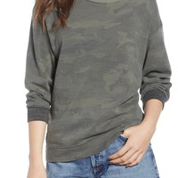 James Perse Camo Sweatshirt | Nordstrom