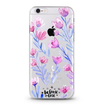 Floral Clear Case